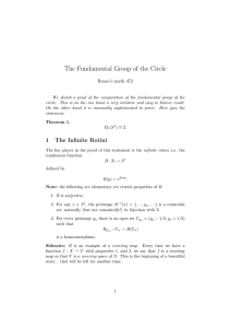 The Fundamental Group of the Circle Renzo's math 472