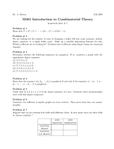 M301 Introduction to Combinatorial Theory