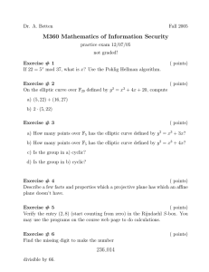 M360 Mathematics of Information Security