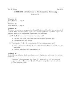 MATH 281 Introduction to Mathematical Reasoning