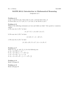 MATH 281A1 Introduction to Mathematical Reasoning