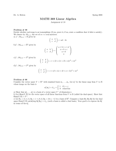 MATH 369 Linear Algebra