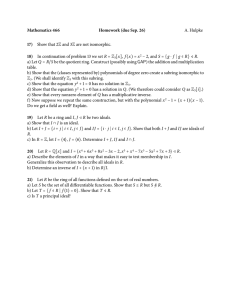 Mathematics 466 Homework (due Sep. 26) 17) 18)