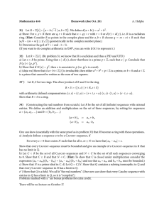 Mathematics 466 Homework (due Oct. 20) 31) A. Hulpke