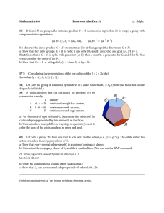 Mathematics 466 Homework (due Dec. 5) A. Hulpke
