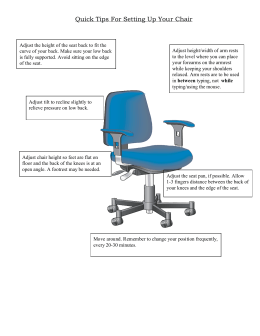 Quick Tips For Setting Up Your Chair