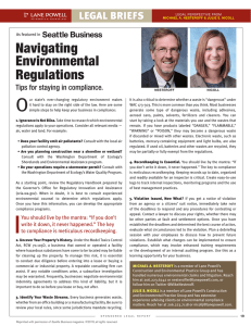 O Navigating Environmental Regulations