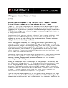 Federal Legislation Update — New Mortgage Rescue Proposal Leverages