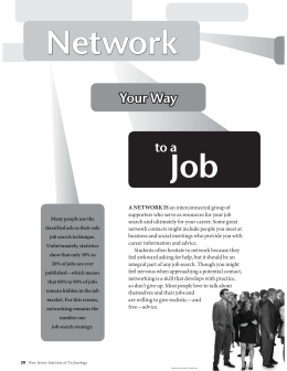 Network Job Your Way to a
