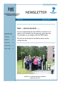 FiRE NEWSLETTER  FIRE — 2010 IN REVIEW …..