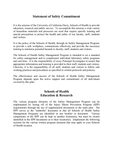 Statement of Safety Commitment