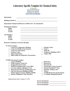 Laboratory Specific Template for Chemical Safety