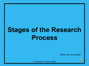 Stages of the Research Process (Click icon for audio)