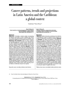 Cancer patterns, trends and projections in Latin America and the Caribbean: