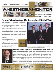 Newton Wins AMA Award for Interna onal Medical Work