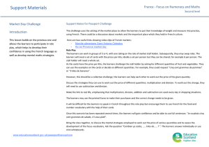 Support Materials Learning Journey France - Focus on Numeracy and Maths