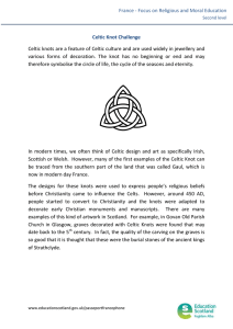 France - Focus on Religious and Moral Education Celtic Knot Challenge