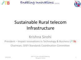 Sustainable Rural telecom Infrastructure i T