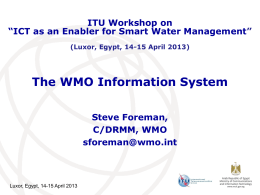 The WMO Information System