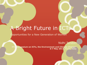 A Bright Future in ICTs  Nidhi Tandon