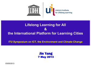 Lifelong Learning for All & the International Platform for Learning Cities