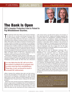 T The Bank Is Open LEGAL BRIEFS