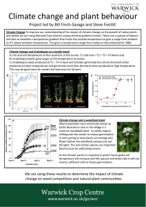 Climate change and plant behaviour