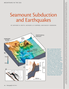 Seamount Subduction and Earthquakes