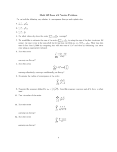Math 115 Exam #1 Practice Problems