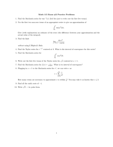 Math 115 Exam #2 Practice Problems
