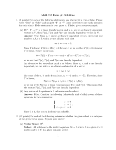 Math 215 Exam #1 Solutions