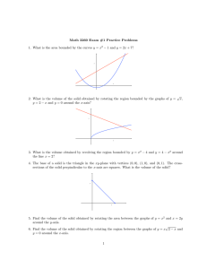 Math 2260 Exam #1 Practice Problems