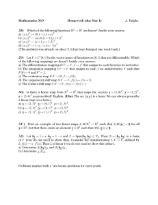 Mathematics 369 Homework (due Mar 1) 25) A. Hulpke