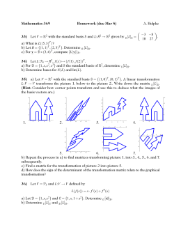 Mathematics 369 Homework (due Mar 8) 33) 34)