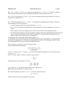 Mathematics 667 Homework (due Apr 4) 42) A. Hulpke