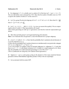 Mathematics 676 Homework (due Feb 3) A. Hulpke