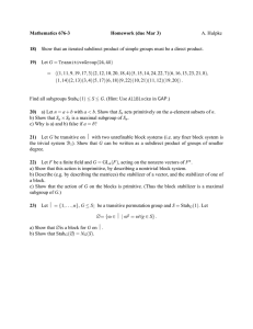 Mathematics 676-3 Homework (due Mar 3) 18) 19)