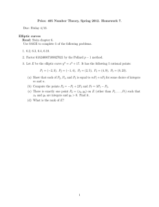 Pries: 405 Number Theory, Spring 2012. Homework 7. Due: Friday 4/13.