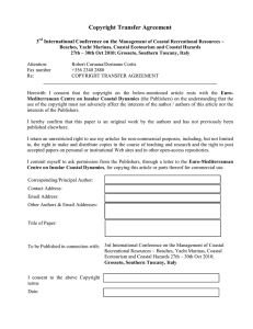 Copyright Transfer Agreement  3 International Conference on the