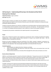 Self-learning Car – Implementing Self-learning in the Simulated and Real... Reducing Driver Workload