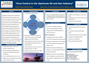 """Cost Control in the Upstream Oil and Gas Industry"""