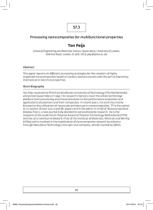 S7.3 Ton Peijs Processing nanocomposites for multifunctional properties