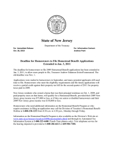 State of New Jersey  Department of the Treasury