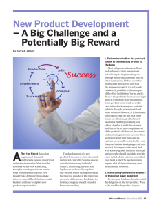 New Product Development  –  A Big Challenge and a