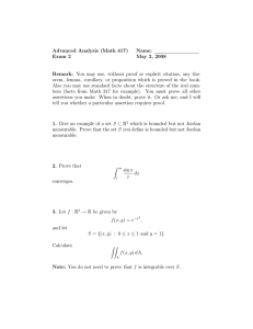 Advanced Analysis (Math 417) Name: Exam 2 May 2, 2008