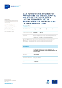 D.3.1. REPORT ON THE INVENTORY OF PARTICIPANTS AND MAIN RELEVANT EU