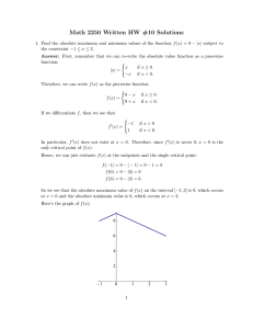 Math 2250 Written HW #10 Solutions