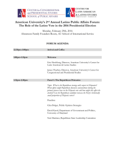 American University's 2 Annual Latino Public Affairs Forum: Monday, February 29th, 2016
