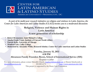 As part of its multi-year research initiative on religion and... Center for Latin American and Latino Studies (CLALS) invites you...