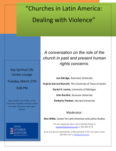 """Churches in Latin America: Dealing with Violence"""